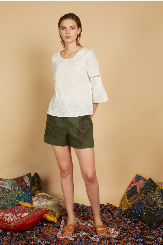 Bethel Embroidery Top