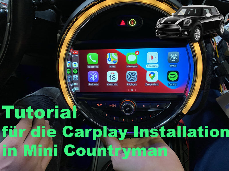 Tutorial für die Carplay Installation in Mini Countryman