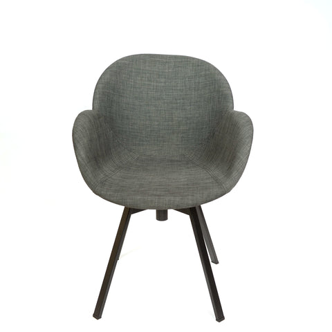 Black Diamond Upholstered Swivel