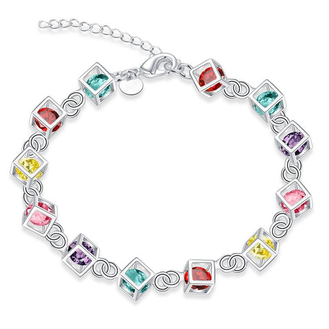 Colors of Life Armband</p> Cubes