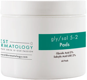 West Dermatology Gly/Sal 5-2 Pads - Glycolic Acid and Salicylic Acid