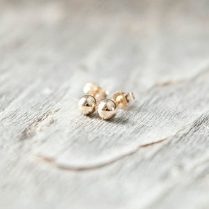 4mm Sterling Silver or 14k Gold Filled Stud Earrings - lizamari
