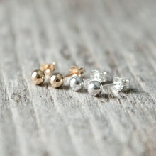 Load image into Gallery viewer, 4mm Sterling Silver or 14k Gold Filled Stud Earrings - lizamari