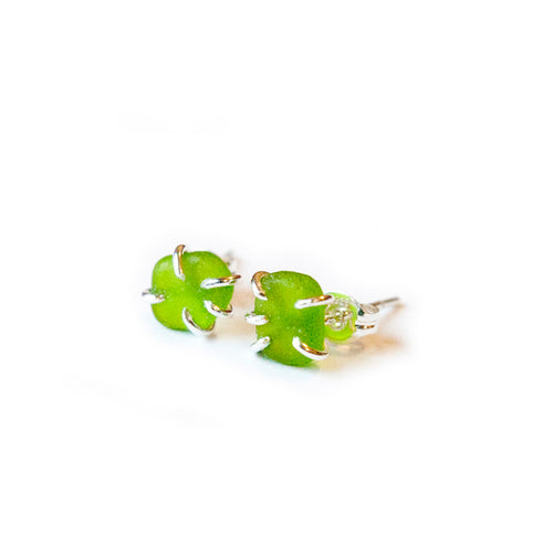 Seaglass Stud Earrings - lizamari