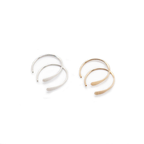 Gold Filled or s925 Sterling Silver Sleeper Earrings - lizamari