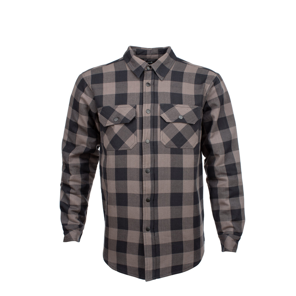 Resurgence Gear® 2020 Riding Shirt PEKEV Motorcycle Riding Shirt - Grey Check