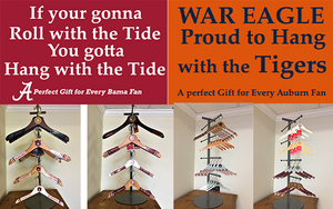 University of Alabama Logo Hangers. Auburn University Logo Hangers. Gifts, Fans, Collectables