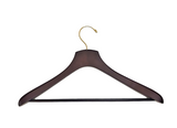Adult Dark Walnut Jacket Hanger w/Bar sku#1602B