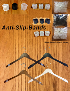 Anti-Slip Bands for Wooden Hangers