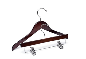 Children's Dark Walnut Wooden Hangers Mix Royal Heirloom- from $1.10 each