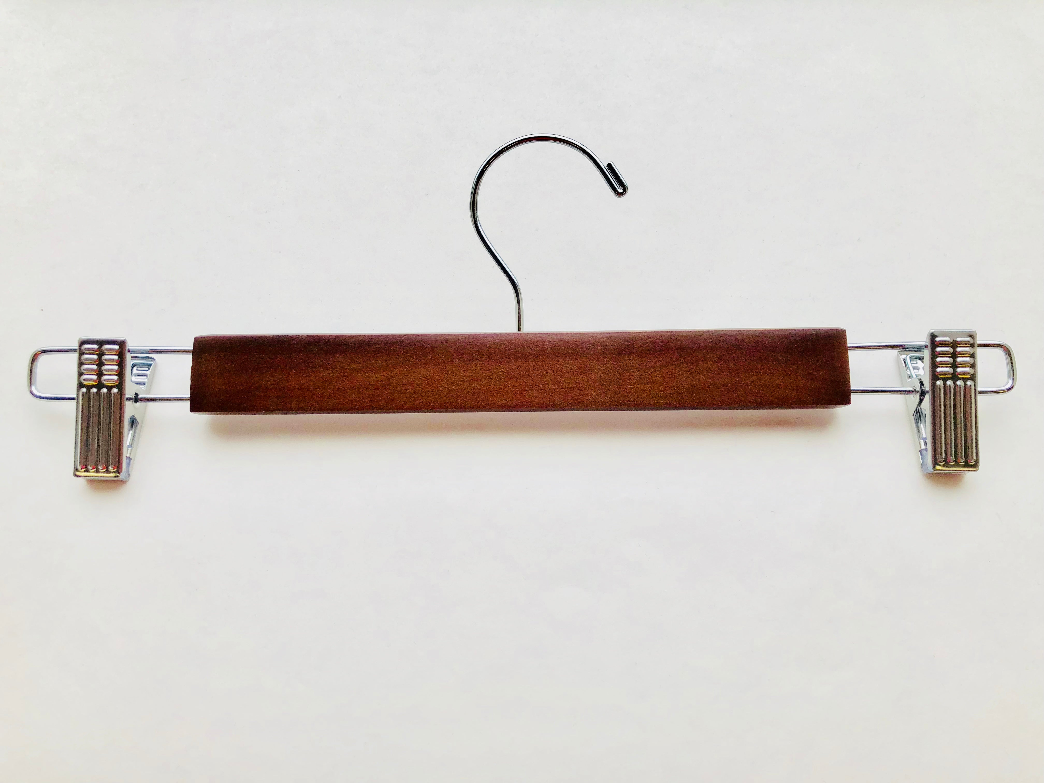 Adult Light Walnut Wooden Bottom Hangers | from $1.05 each