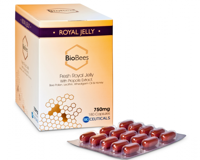 BioBees® Fresh Royal Jelly Capsules (180 capsules)