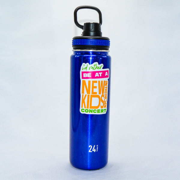 #100 - Stainless Steel Blue Takeya Water Bottle - Rather Be At NKOTB Concert
