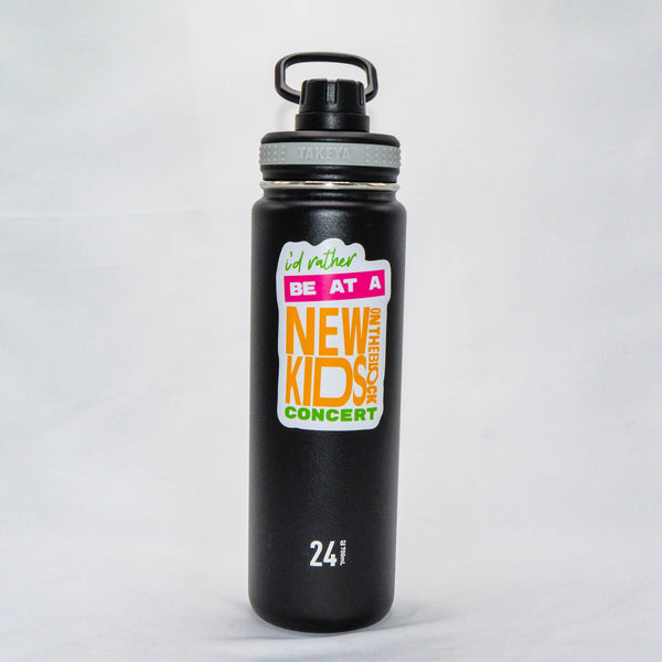 #89 - Stainless Steel Black Takeya Water Bottle - Rather Be At NKOTB Concert