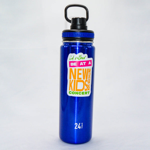 #94 - Stainless Steel Blue Takeya Water Bottle - Rather Be At NKOTB Concert
