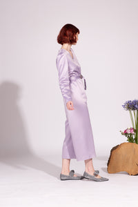 Tuta Capri in Satin Lilla
