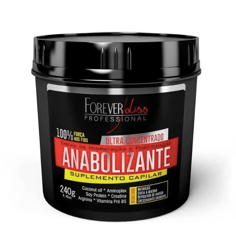 Anabolic Supplément Capillaire Masque Fortifiant Hydratant 240g - Forever Liss