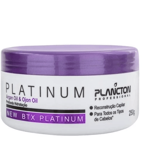 BTX Platinum Tinting Argan and Ojon Hair Mask Moist 250g - Plancton Professional
