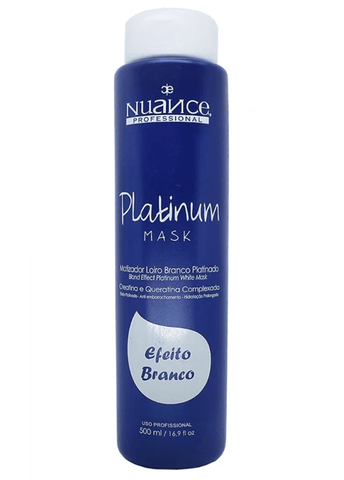 Brazilian Treatment Blond Effect Platinum White Hair Mask Toning 500ml - Nuance