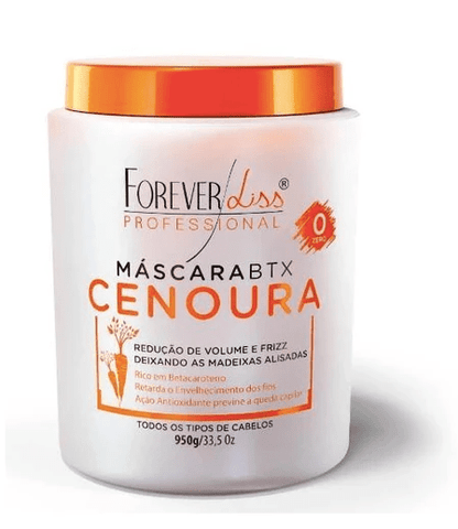 Carrot Btx No Formol Anti Frizz and Volume Professional Mask 950g - Forever Liss