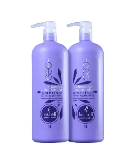 Double Amethyst for Blond Hair Kit Shampoo and Conditioner 2x1L - Haskell