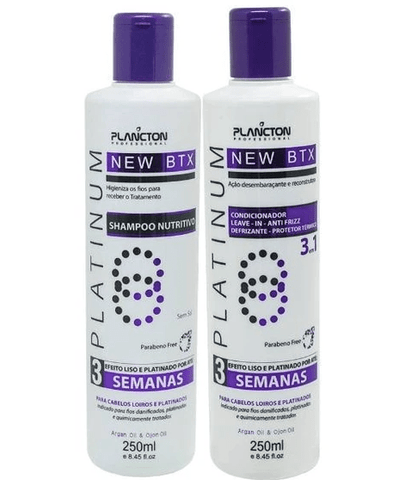 Formol Free Volume Reduction BTX Platinum Blond 2x250ml - Plancton Professional