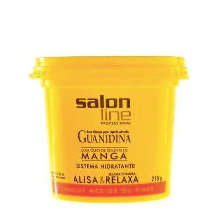 Guanidina Mango Seed Oil Hair Smooth Relaxes Hydrating System 218g - Salon Line
