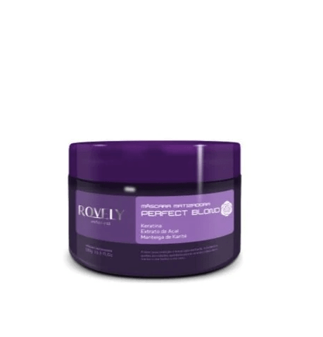 Perfect Blond Hair Treatment Toning Mask Acai Keratin Karite 300g - Rovely
