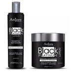 Professional Black Platinum Effect Blonde Tinting Treatment 2 Products - Anjore