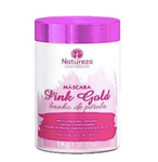Professional Brazilian Hair Treatment Pink Gold Pearl Bath Mask 1Kg - Natureza