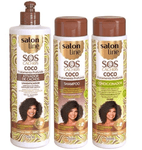 Professional Home Care Treatment Kit SOS Coconut Curls 3 Products - Salon Line