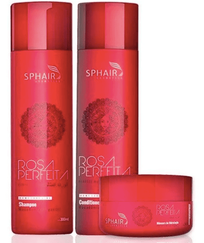 Rosa Perfeita Home Care Maintenance Hair Treatment Kit 3 Products - Sphair