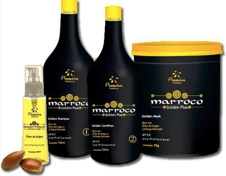Shampoo Conditioner Mask Argan Marocco Golden Plus 4 Products - Floractive