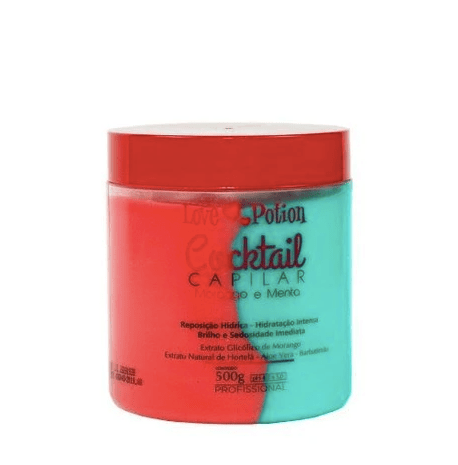 Strawberry and Mint Cocktail Hydration Shine Treatment Mask 500g - Love Potion