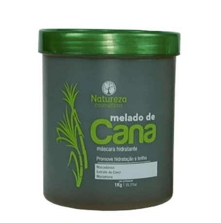 Sugarcane Molasses Hydrating Melado de Cana Treatment Hair Mask 1Kg - Natureza