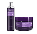 Toning Hair Treatment Kit Perfect Blond Keratin Acai Karite 2 Products - Rovely