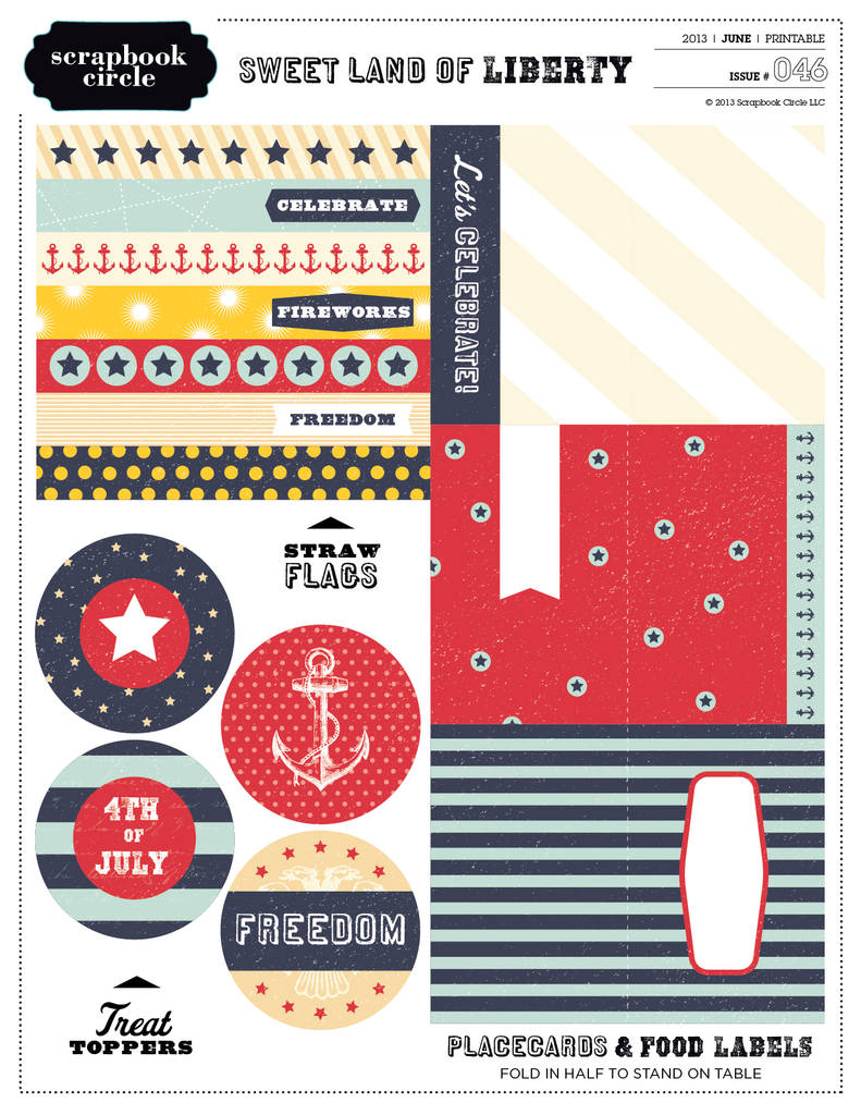Sweet Land of Liberty Printable