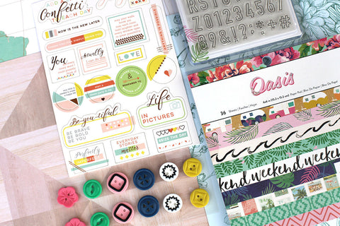 June Embellishment Add-on: Happy Life