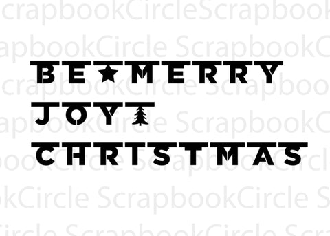 Christmas Banners Digital Cut Files