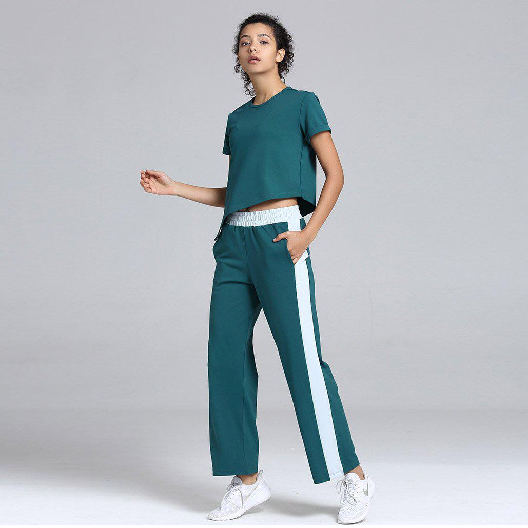 Loose Tee & Bottom Quick-Dry Activewear Suit - Ahanova Sports
