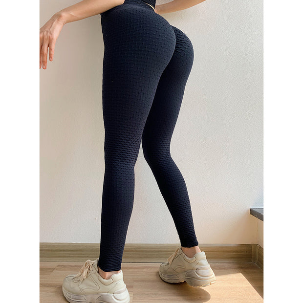 Anti Cellulite Peach Lift Fitness Yoga Leggings - Ahanova Sports