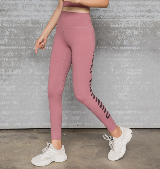Elastic Tight Hip Leggings Letter Printed Slim Quick-drying Fitness Pants