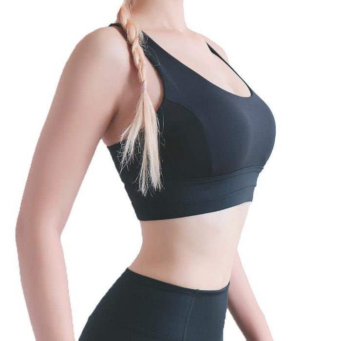Adjustable Shoulder Strap Yoga Bra - Ahanova Sports