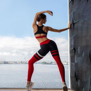 Hollow Back & Color Patch Activewear Yoga Suit - Ahanova Sports