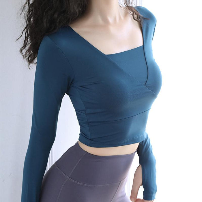 Quick Drying Open Navel Long Sleeve