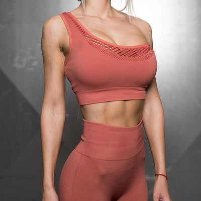 Double-layer Hollow Two-sided Bra - Ahanova Sports
