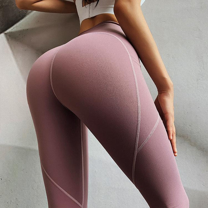 Hip Lifting Side Pocket Compression Stretch Workout Leggings - Ahanova Sports