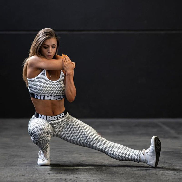Zebra Skin Printed Hit Lifting Activewear Yoga Suit - Ahanova Sports