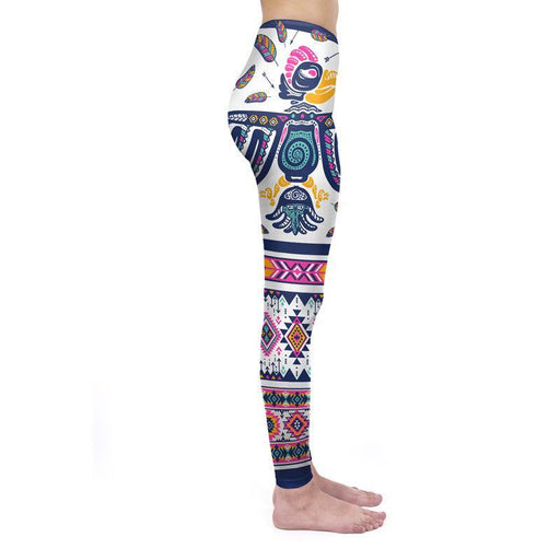3D Series Aztec Totem Print Magic Leggings