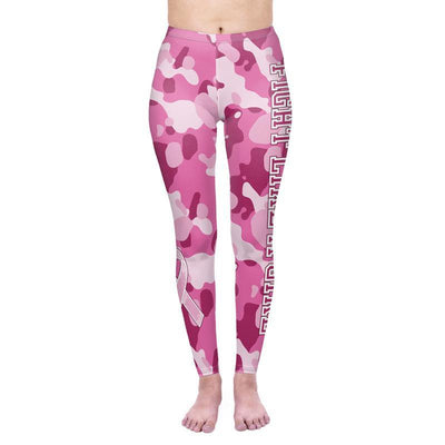 Floral Print Letter Workout Leggings - Ahanova Sports